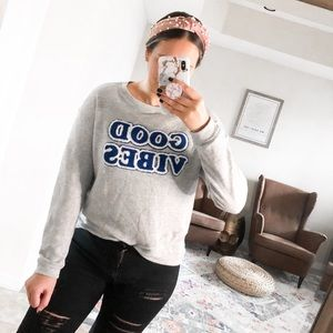 🍂 Good Vibes Graphic Target Sweater